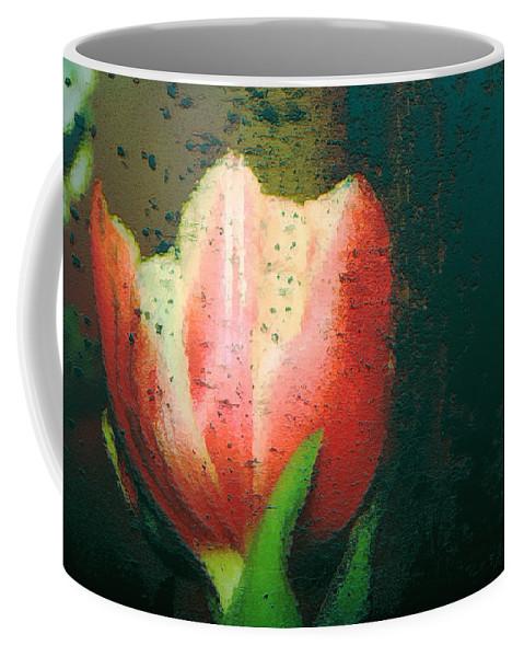 Tulip Coffee Mug featuring the photograph Tulip Of Love by Linda Sannuti