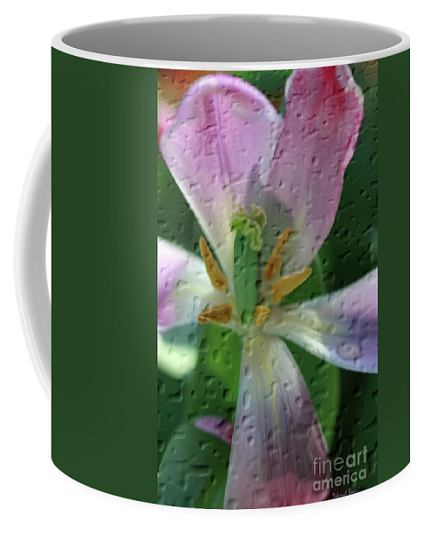 Tulip Coffee Mug featuring the photograph Tulip Passing Beauty by Deborah Benoit