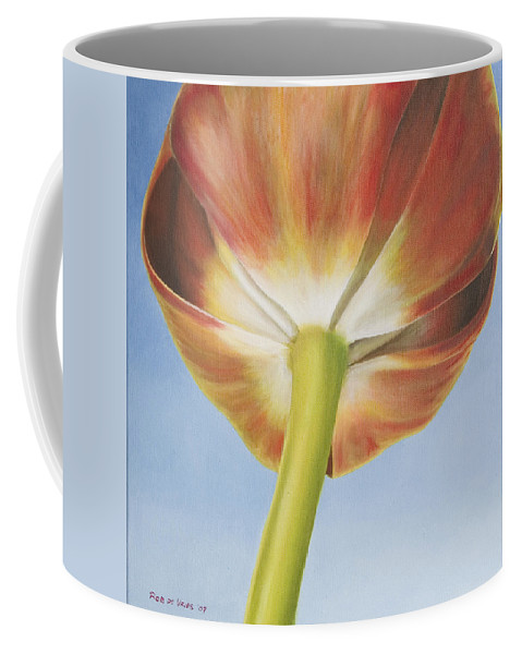 Flower Coffee Mug featuring the painting Tulip by Rob De Vries