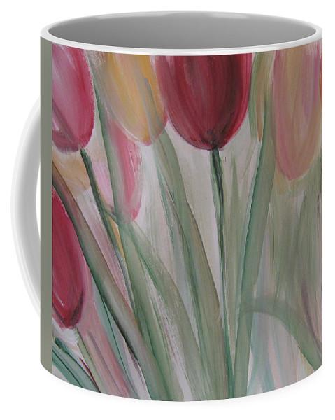 Tulips Coffee Mug featuring the painting Tulip Series 3 by Anita Burgermeister