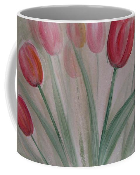 Tulips Coffee Mug featuring the painting Tulip Series 5 by Anita Burgermeister