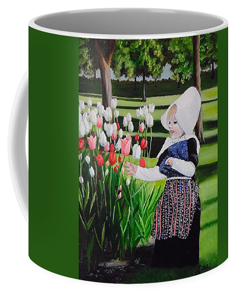 Tulips Coffee Mug featuring the painting Tulip Time by Janet Guss