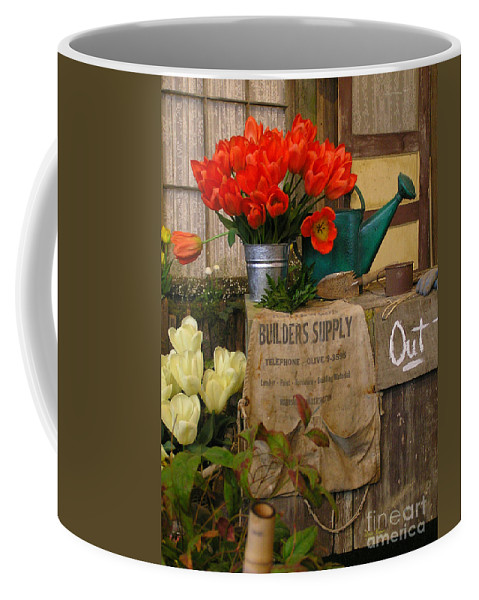 Tulips Coffee Mug featuring the photograph Tulip Town by Louise Magno