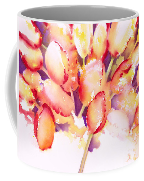 Flower Coffee Mug featuring the painting Tulips Are People Iv by Jerome Lawrence