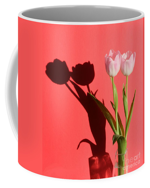 Tulips Coffee Mug featuring the photograph Tulips Casting Shadows by Jean Clarke