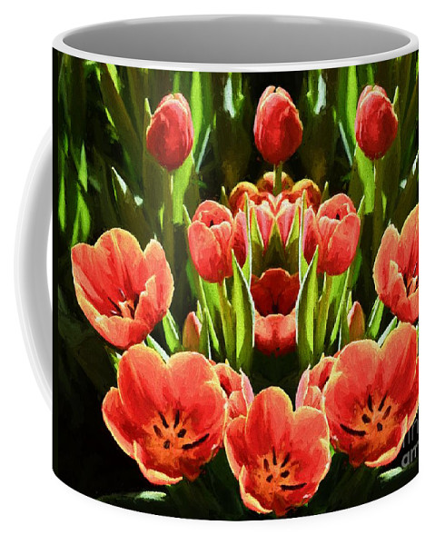 Flower Coffee Mug featuring the photograph Tulips by Ray Warren