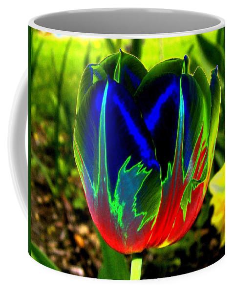 Resplendent Coffee Mug featuring the digital art Tulipshow by Will Borden