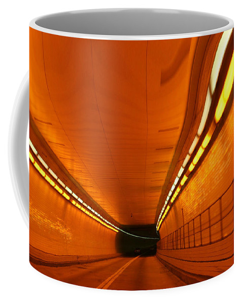 Tunnel Coffee Mug featuring the photograph Tunnel by Linda Sannuti
