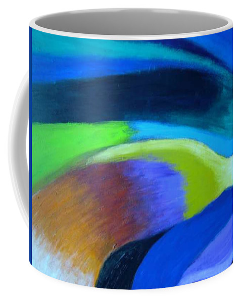 Turbulence Coffee Mug featuring the painting Turbulence by Jan Gilmore