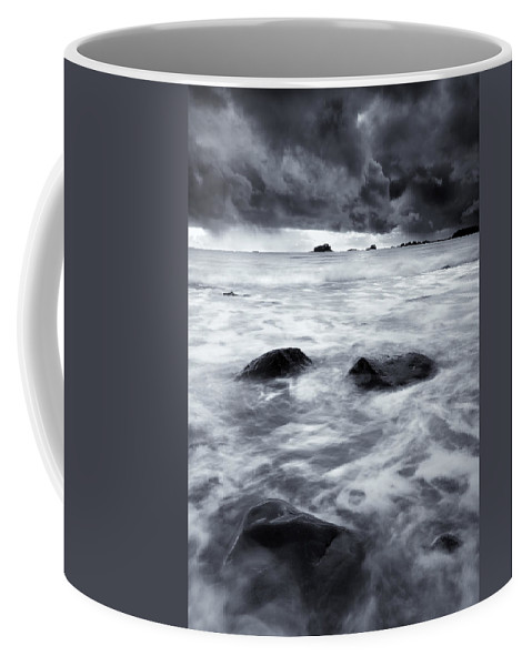 Sitka Coffee Mug featuring the photograph Turbulent Seas by Mike Dawson