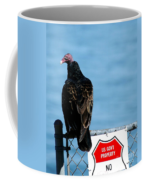 Clay Coffee Mug featuring the photograph Turkey Buzzard by Clayton Bruster