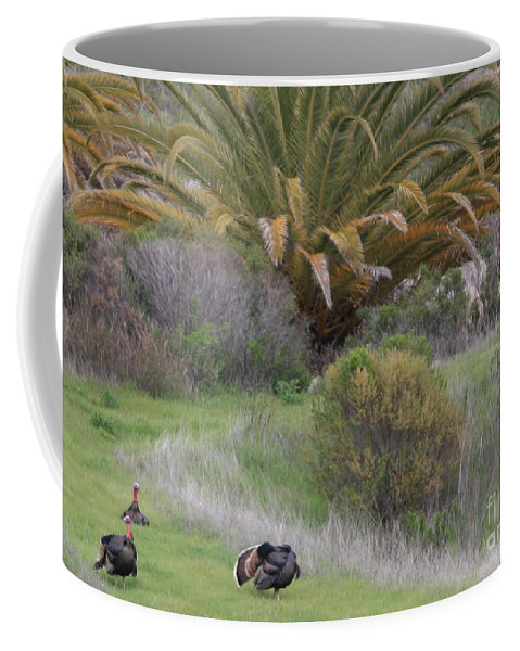 Card Coffee Mug featuring the Turkey Day Card by Carol Groenen