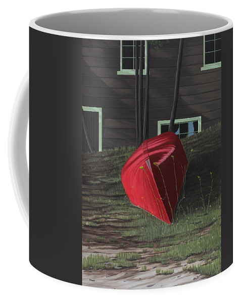 Canoes Coffee Mug featuring the painting Turned Down Day by Kenneth M Kirsch