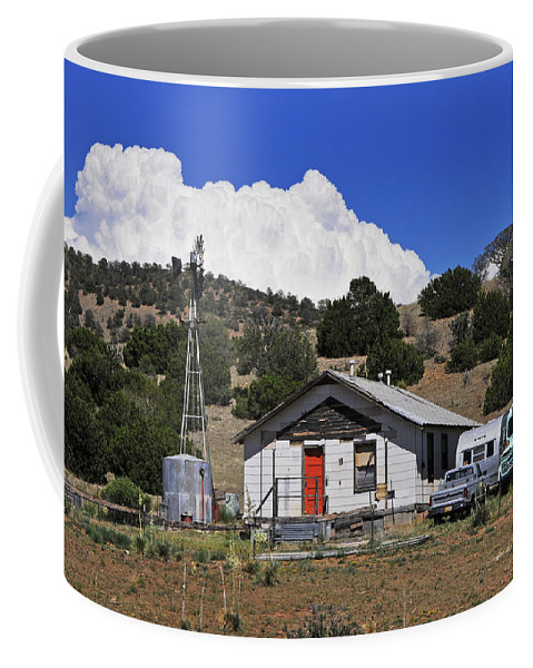 Skip Hunt Coffee Mug featuring the photograph Turquoise Bus by Skip Hunt