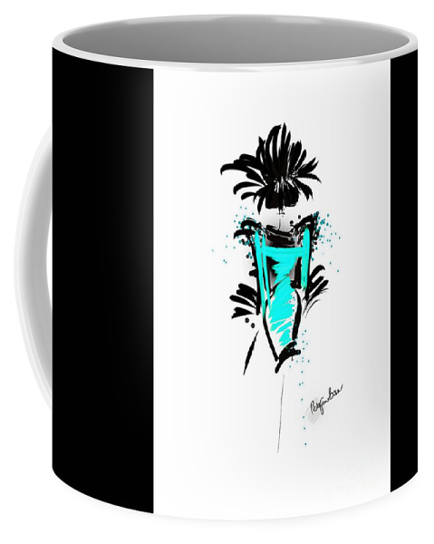Fashion Design Coffee Mug featuring the digital art Turquoise In The City by Peta Brown