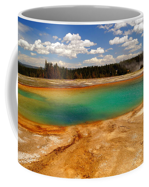 Hot Water Coffee Mug featuring the photograph Turquoise Pool by Beth Collins