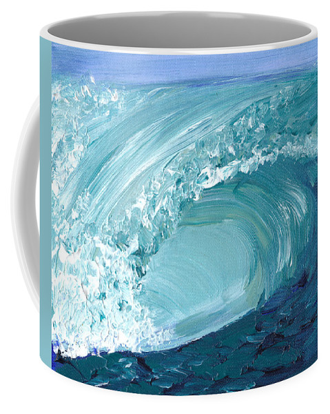 Wave Coffee Mug featuring the painting Turquoise Room by Shelley Myers