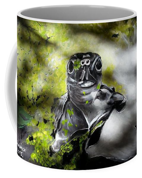 Turtle Coffee Mug featuring the painting Turtle by Judit Szalanczi