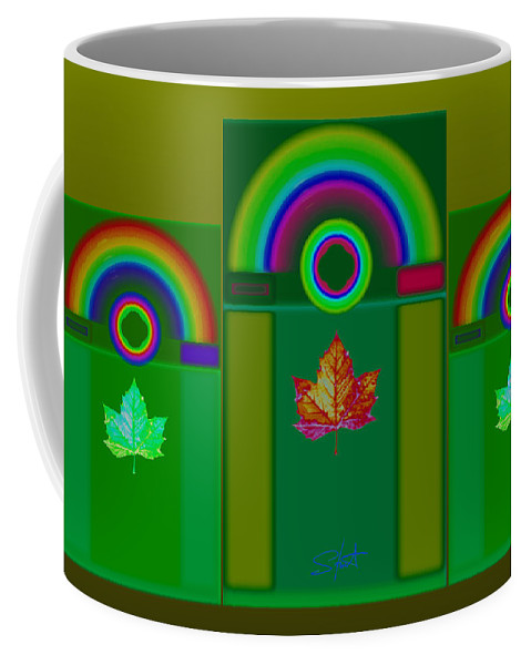 Classical Coffee Mug featuring the digital art Tuscan Green by Charles Stuart