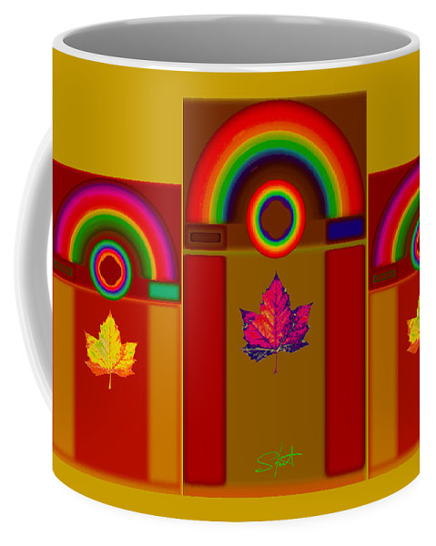 Classical Coffee Mug featuring the digital art Tuscan Harvest by Charles Stuart