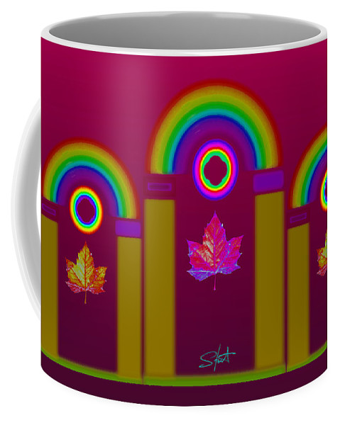 Classical Coffee Mug featuring the painting Tuscan Magenta by Charles Stuart