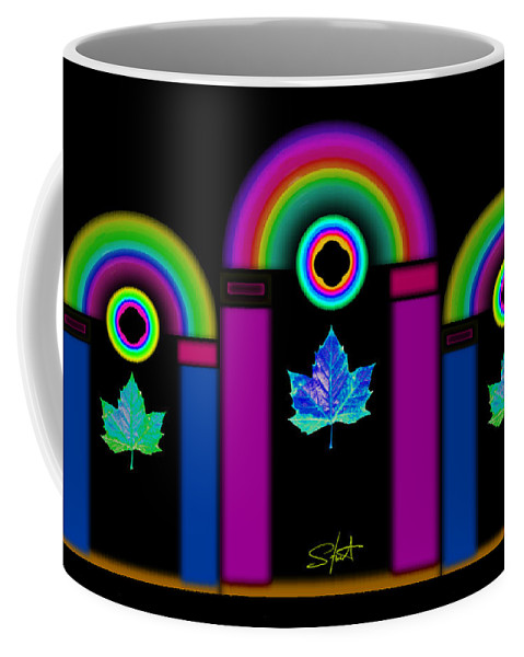 Classical Coffee Mug featuring the painting Tuscan Neon by Charles Stuart