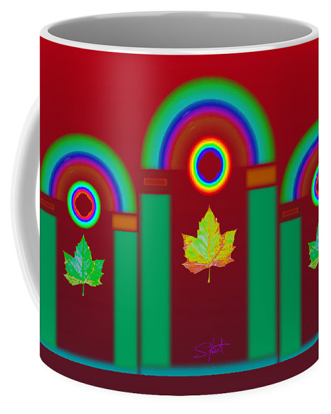 Classical Coffee Mug featuring the digital art Tuscan Red by Charles Stuart
