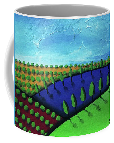 Tuscan Coffee Mug featuring the painting Tuscan Storm by Katie Slaby