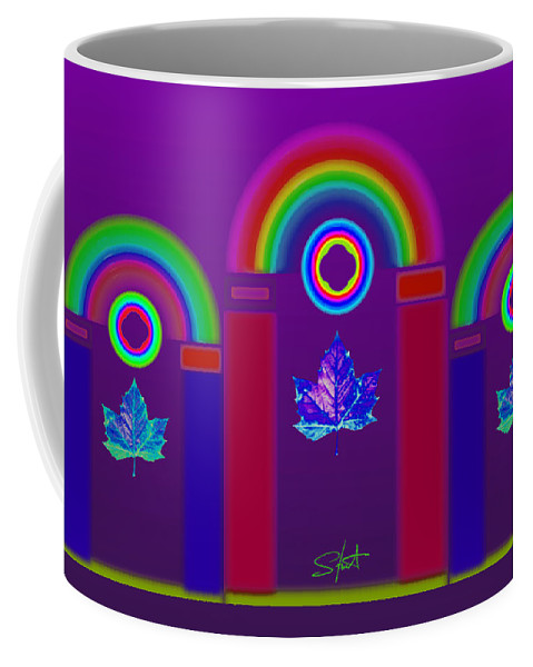 Classical Coffee Mug featuring the painting Tuscan Violet by Charles Stuart