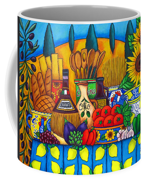 Still Life Coffee Mug featuring the painting Tuscany Delights by Lisa Lorenz