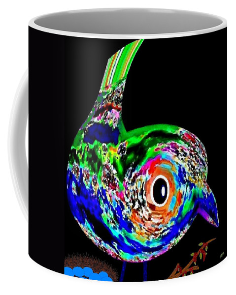 Abstract Coffee Mug featuring the digital art Tweeter by Will Borden
