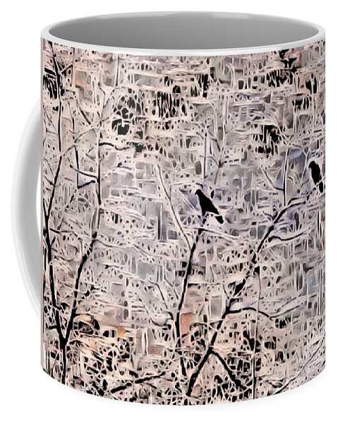 Bird Coffee Mug featuring the photograph Twilight Arrives On Raven Wings by Susan Maxwell Schmidt