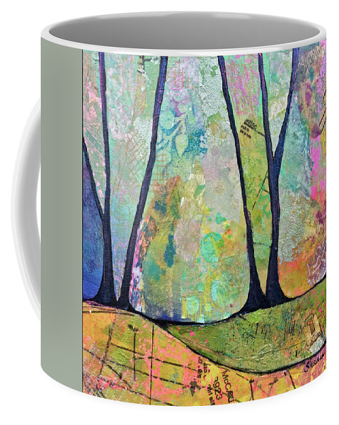 Fall Coffee Mug featuring the painting Twilight I by Shadia Derbyshire
