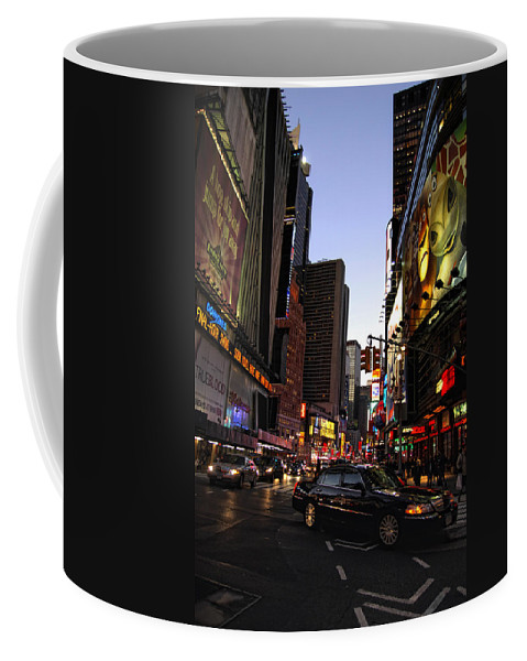 New York City Coffee Mug featuring the photograph Twilight In The Streets by Donna Blackhall