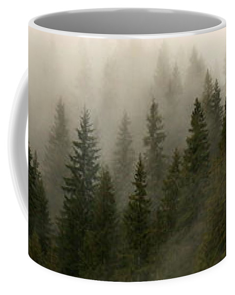 Forks Coffee Mug featuring the photograph Twilight Mist by Carol Groenen