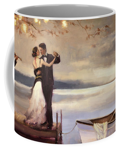 Romantic Coffee Mug featuring the painting Twilight Romance by Steve Henderson
