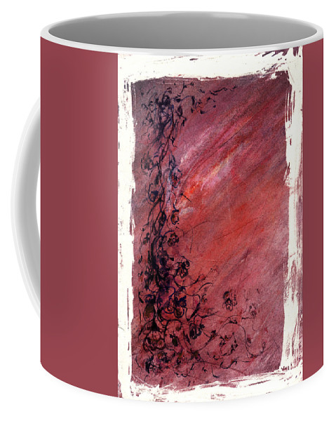 Floral Coffee Mug featuring the painting Twilight Rose by Rachel Christine Nowicki