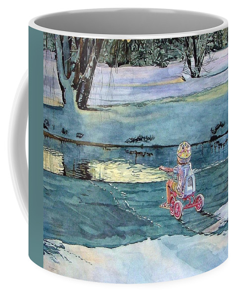 Children Coffee Mug featuring the painting Twilight by Valerie Patterson