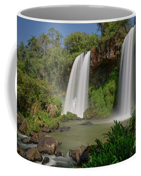 Iguacu Falls Coffee Mug featuring the photograph Twin Falls by Brian Kamprath