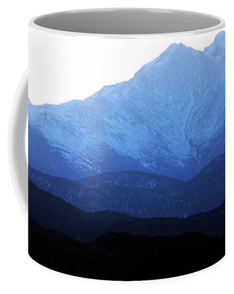 Twin Peaks Coffee Mug featuring the photograph Twin Peaks Blues by James BO Insogna