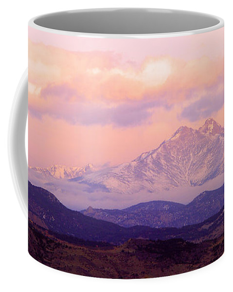 Twin Peaks Coffee Mug featuring the photograph Twin Peaks Sunrise by James BO Insogna