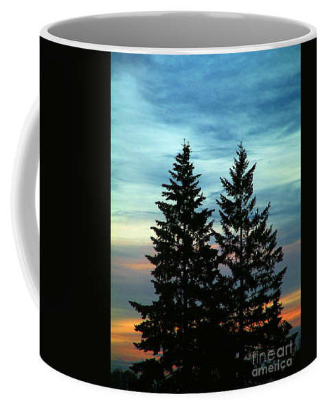 Twin Trees Coffee Mug featuring the photograph Twin Trees by Nick Gustafson