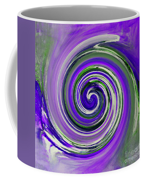 Twirl Coffee Mug featuring the painting Twirl 02c by Gull G