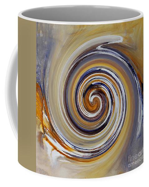 Twirl Coffee Mug featuring the painting Twirl Art 0032 by Gull G