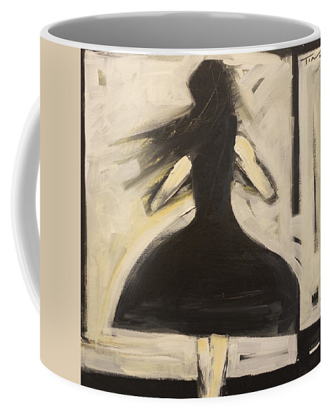 Twirl Coffee Mug featuring the painting Twirling by Tim Nyberg