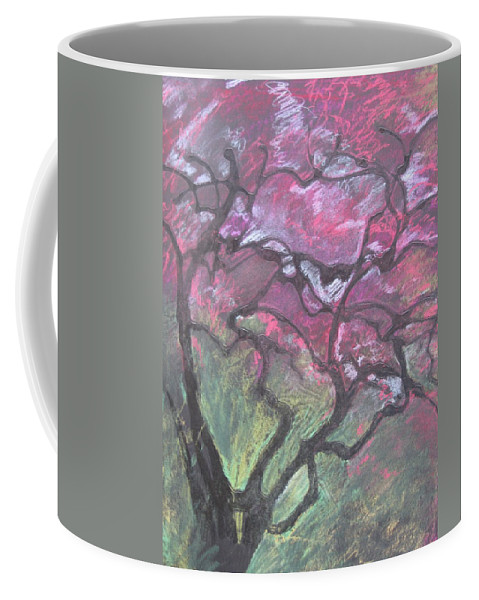 Pastel Coffee Mug featuring the drawing Twisted Cherry by Leah Tomaino