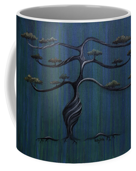 Tree Coffee Mug featuring the painting Twisted Oak by Kelly Jade King