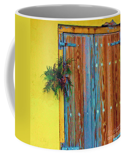 Door Coffee Mug featuring the photograph Twisted Root by Debbi Granruth