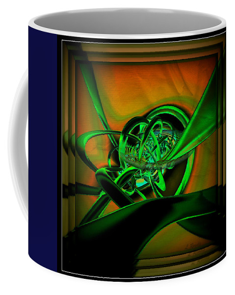 Digital Coffee Mug featuring the digital art Twisted Sister by Leslie Revels