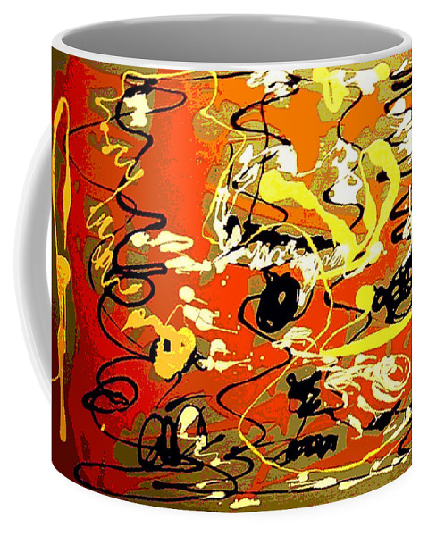 Abstract Coffee Mug featuring the painting Twister by Rusty Gladdish